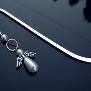 Zakładka z perłowym aniołem
