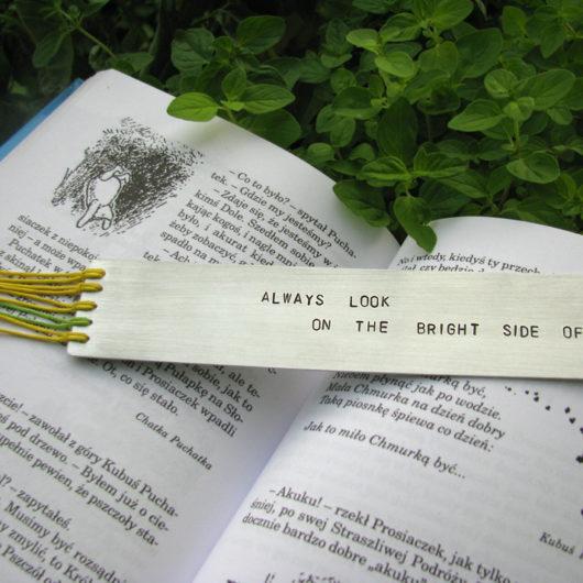 """Zakładka do książki """"Always look on the bright side of life"""""""