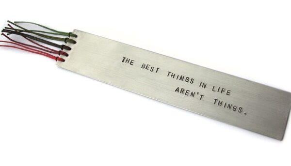 Zakładka do książki The best things in life aren't things