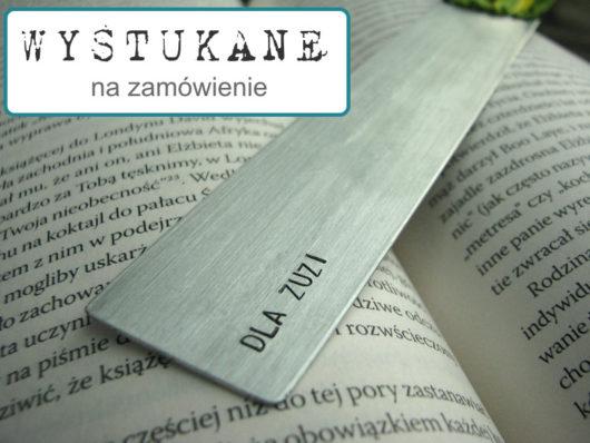 Zakładka do książki z dedykacją na prezent