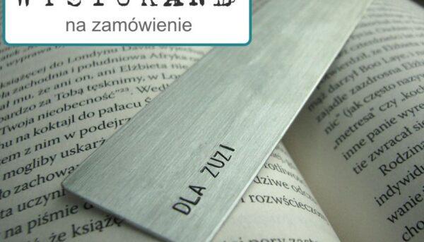 Zakładka do książki z dedykacją