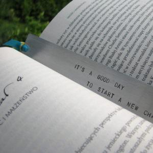 Zakładka do książki na nową drogę życia