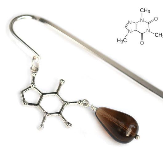 Prezent dla chemika - zakładka z częsteczką kofeiny