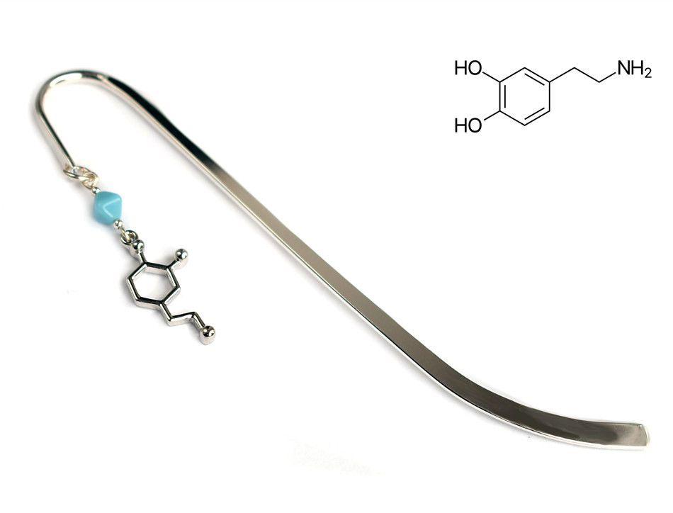 Prezent dla chemika - zakładka z częsteczką dopaminy