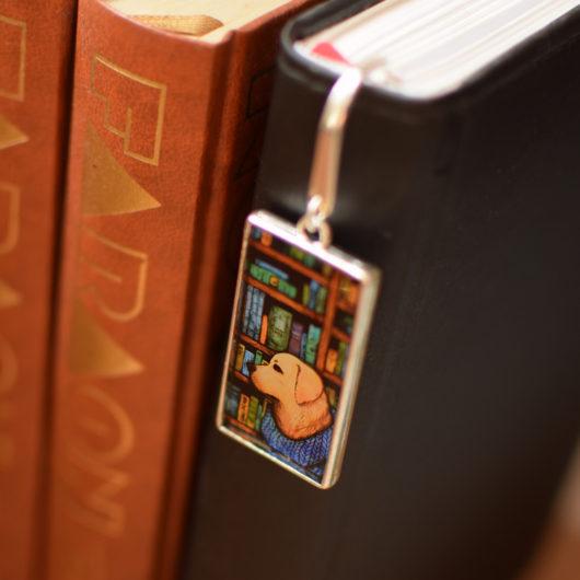 Zakładka do książki, z psem - labradorem