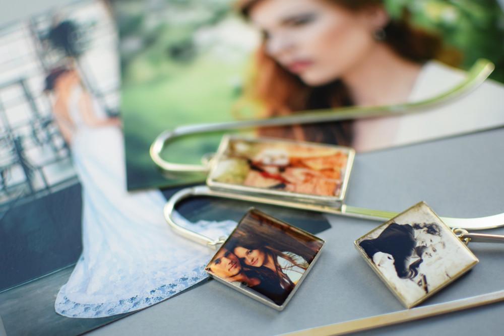 Zakładki do książek ze zdjęciami narzeczonych