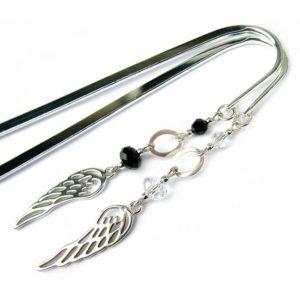 Zakładka do książki ze skrzydłem anioła i kryształem Swarovski Crystal