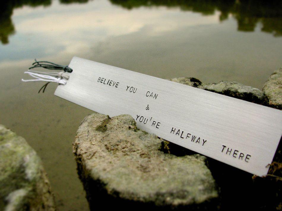 Zakładka do książki - Believe you can and you're halfway there