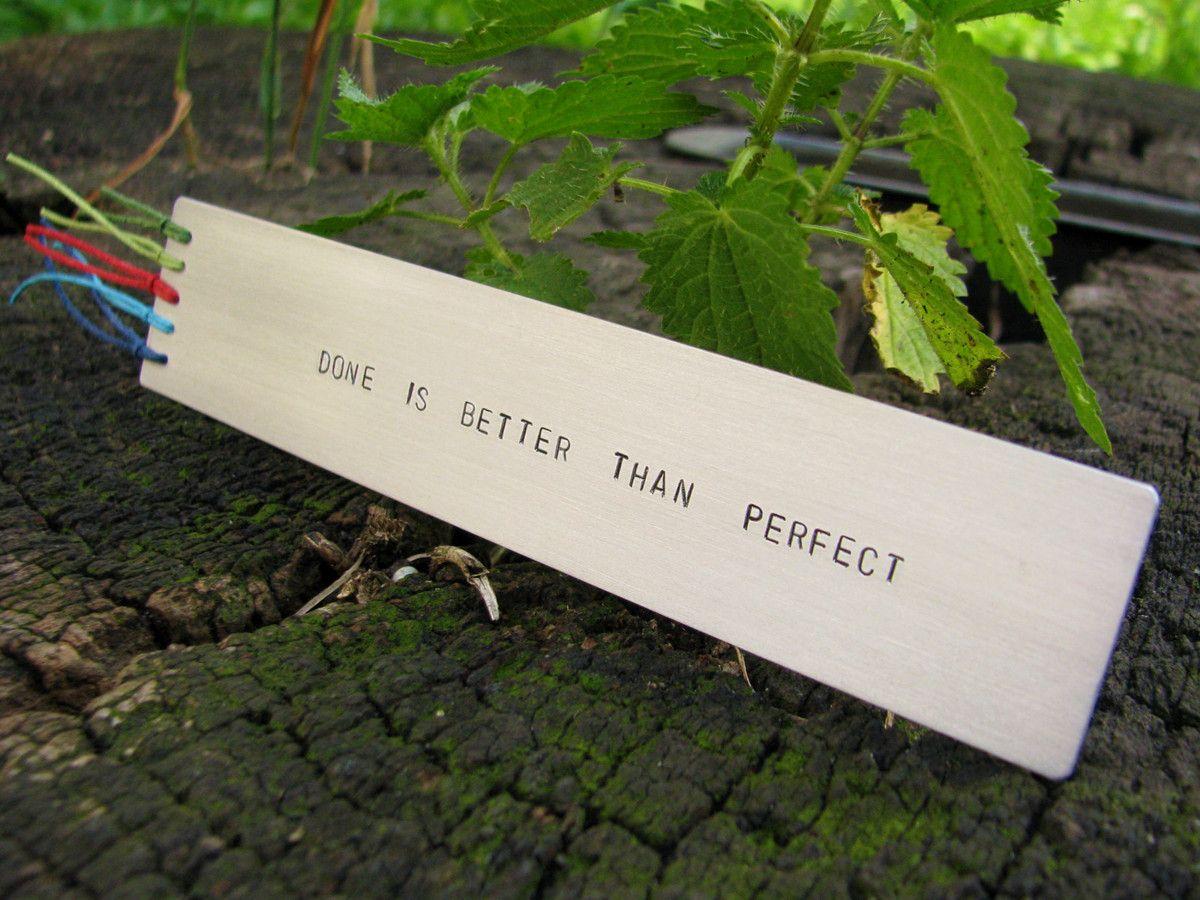 Zakładka do książki - Done is better than perfect
