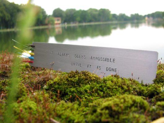 Zakładka do książki - It always seems impossible until it is done