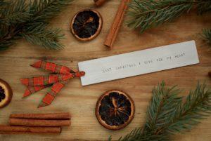 Świąteczna zakładka do książki - piosenka - Last Christmas I gave you my heart