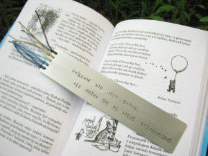 Zakładka do książki - Kubuś Puchatek - Myślenie nie jest łatwe, ale można się do niego przyzwyczaić