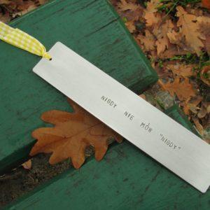 """Motywacyjna zakładka do książki z napisem - Nigdy nie mów """"nigdy"""""""