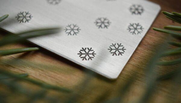 Zakładka do książki - Pada śnieg