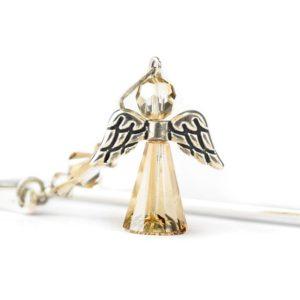 Zakładka do książki ze złotym aniołkiem - kryształy Swarovski Golden Shadow
