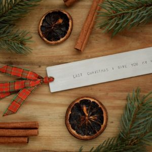 Zakładka do książki - Last Christmas I gave you my heart