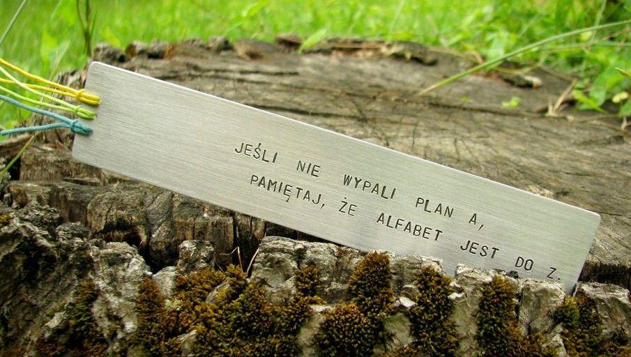 Zakładka do książki - jeśli nie wypali plan A, pamiętaj, że alfabet jest do Z