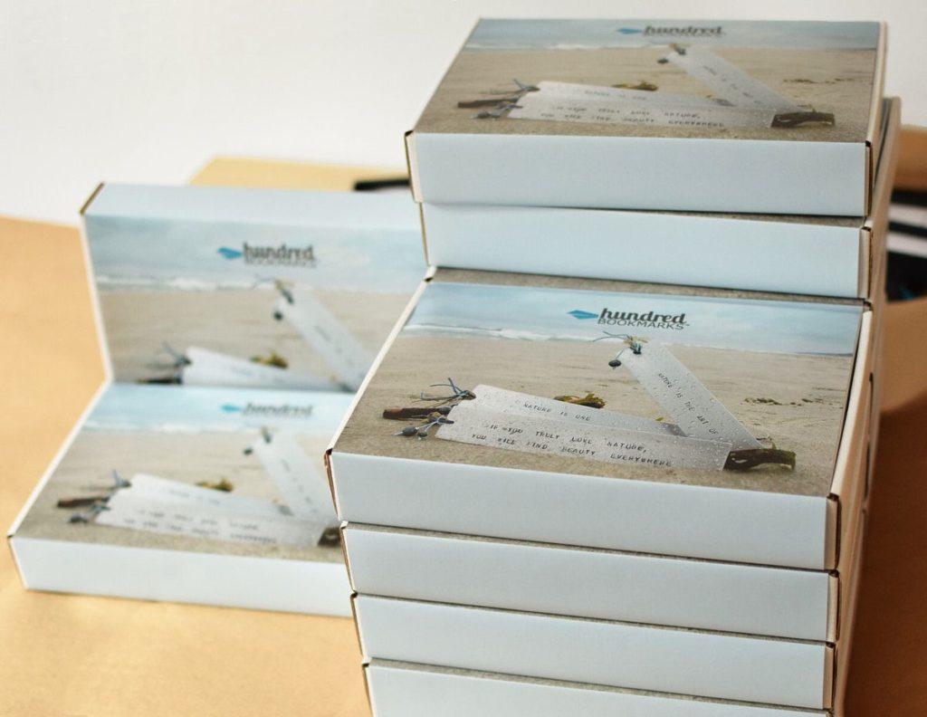 Opakowanie zakładek do książek - wysyłka na prezent